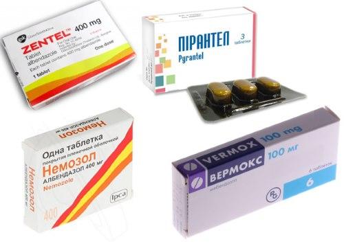 Названия препаратов от паразитов