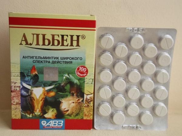 Таблетки Альбен от глистов