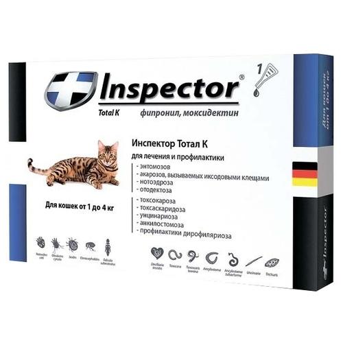 Инспектор от глистов для кошек: инструкция по применению, стоимость